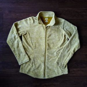 Duluth Trading Co yellow zip fleece sweatshirt